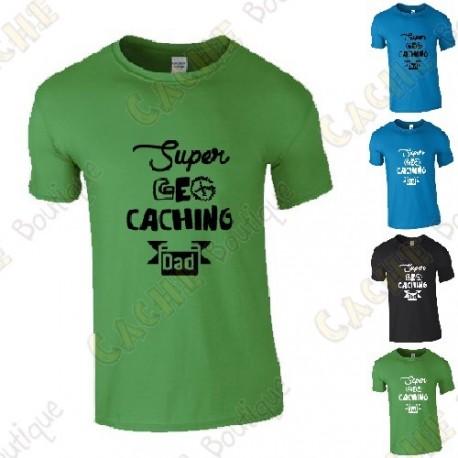 """Super Geocaching Dad"" T-shirt for Men"