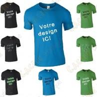 T-Shirt 100% personnalisé, Homme - Noir