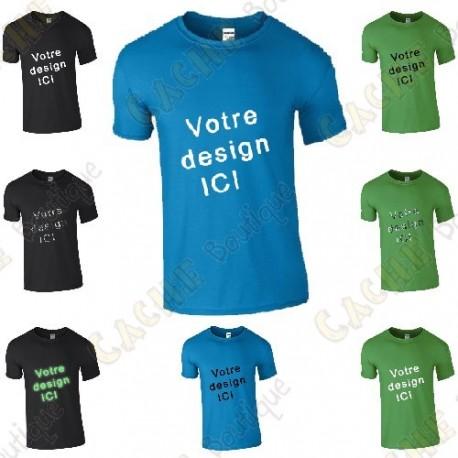 T-shirt 100% personalizado, Homem - Preto