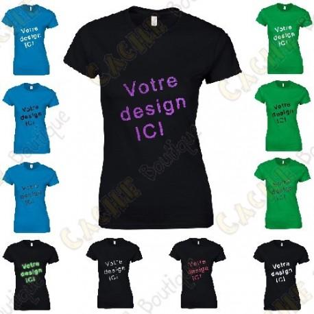 T-shirt 100% personalizado, Mulher