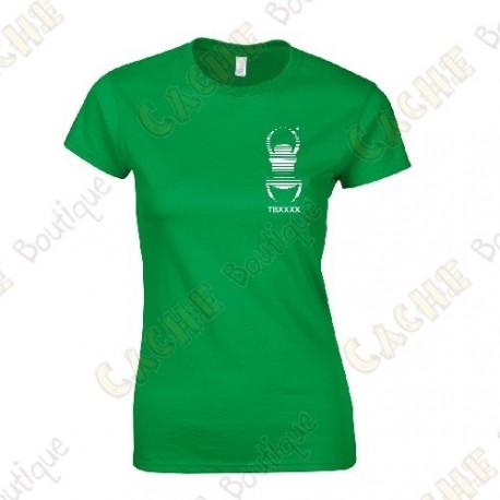T-shirt trackable com seu Apelido, Mulheres - Preto