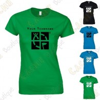 T-shirt with your Teamname, for Women - Black