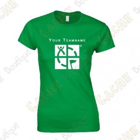 T-shirt com seu Apelido, Mulheres - Preto
