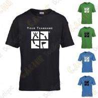Camiseta con Teamname, Niño - Negra