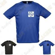 """Camiseta técnica trackable """"Discover me"""" Hombre - Negra"""