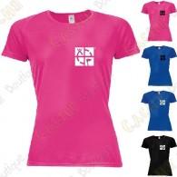 "T-shirt técnica trackable ""Discover me"" Mulher"