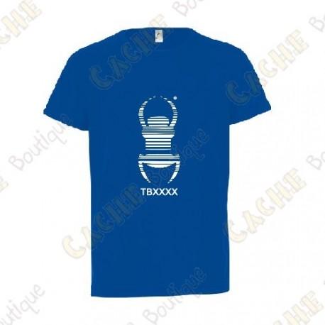 "Camiseta técnica trackable ""Travel Bug"" Niño - Negra"