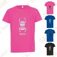 "Trackable ""Travel Bug"" technical T-shirt for Kids - Black"