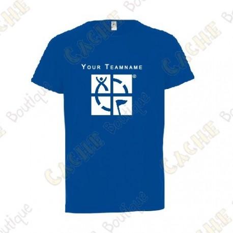 Camiseta técnica con Teamname, Niño - Negra
