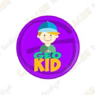 """Geocaching Addict"" Button Boy"