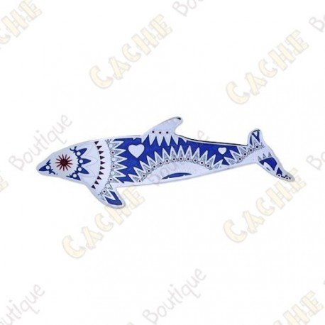 """Geocoin Dolphin """"Angels of the Sea"""" - Azul - Limited Edition"""