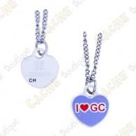 """Geocoin Collar """"I love GC"""""""