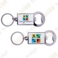 Geocaching Trackable keychain Bottle opener