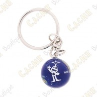 "Marble keychain ""Signal the Frog"""