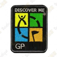 Groundspeak logo trackable patch - Quadricolor / Black