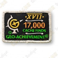 Geo Achievement® 17 000 Finds - Patch