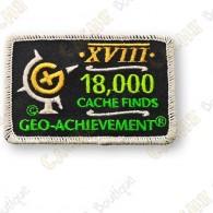 Geo Achievement® 18 000 Finds - Patch