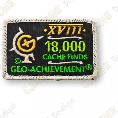 Geo Achievement® 18 000 Finds - Parche