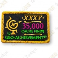 Geo Achievement® 35 000 Finds - Patch