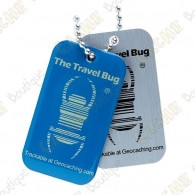 QR Travel bug - Glow in the dark Blue