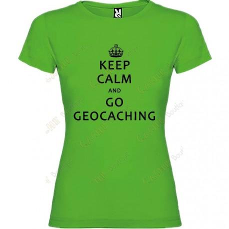 """T-shirt """"Keep Calm"""" Mulher"""