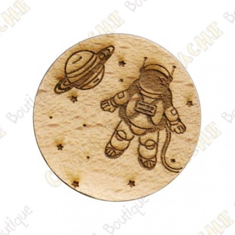 Wooden coin - Planet Exploration
