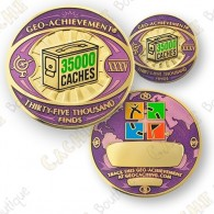 Geo Achievement® 35 000 Finds - Coin + Pin's