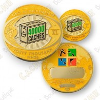 Geo Achievement® 40 000 Finds - Coin + Pin's