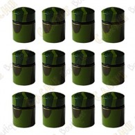 Magnetic Nano Caches x 12 - Green Camo
