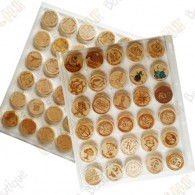 6 Plastic Wood coins trays - 30 fields