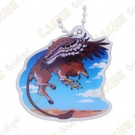 """Hidden Creatures"" Travel tag - Gryphon"