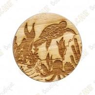 Wooden coin - Creatures