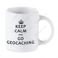 Geocaching white mug - Keep Calm
