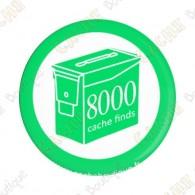 Geo Score Badge - 8000 Finds