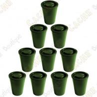 "Cache ""film canister"" hermético x10 - Verde"