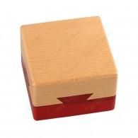 """Wooden square cache """"Secret box"""""""