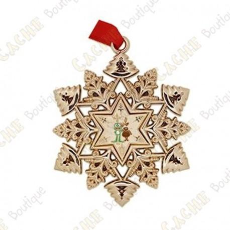"Geocoin ""Signal ornament"" Snowflake - Reindeer"