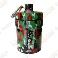 """Huge micro cache """"Official Geocache"""" 8 cm - Red Camo"""
