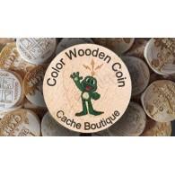 Wood coins Colores personalizados x 50