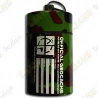 "Huge micro cache ""Official Geocache"" 10 cm - Camo"