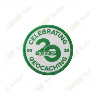 """20 Years of Geocaching"" patch"