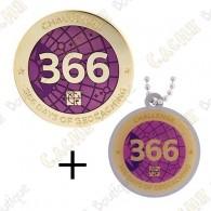 "Geocoin + Travel Tag ""Challenge"" - 366 days"