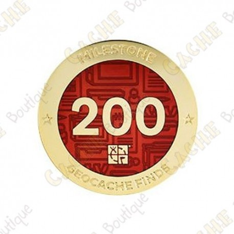 "Geocoin ""Milestone"" - 200 Finds"