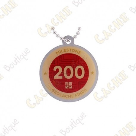 """Travel tag """"Milestone"""" - 200 Finds"""