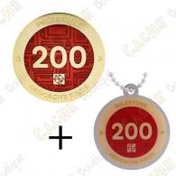 "Geocoin + Traveler ""Milestone"" - 200 Finds"
