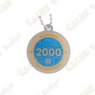 """Travel tag """"Milestone"""" - 2000 Finds"""