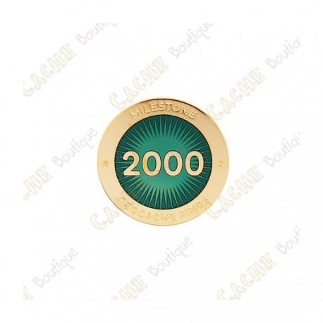 """Pin's """"Milestone"""" - 2000 Finds"""