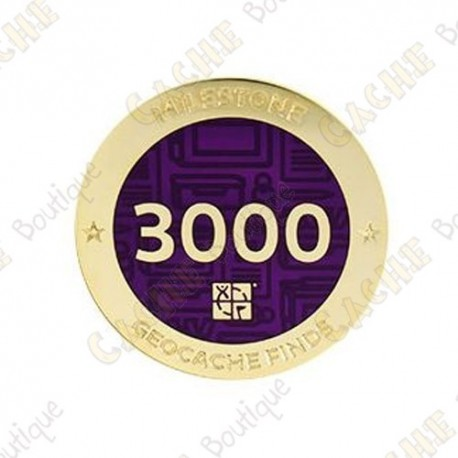 "Geocoin ""Milestone"" - 3000 Finds"