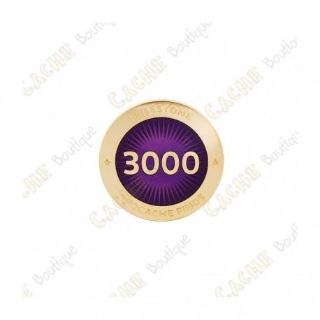 """Pin's """"Milestone"""" - 3000 Finds"""