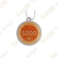 """Travel tag """"Milestone"""" - 5000 Finds"""